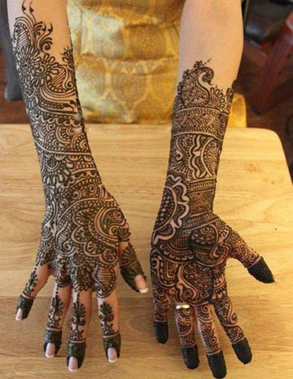 full hand bridal Mehandi design for brides