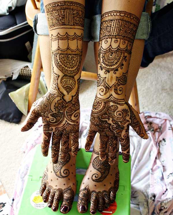bridal Mehendi design for brides
