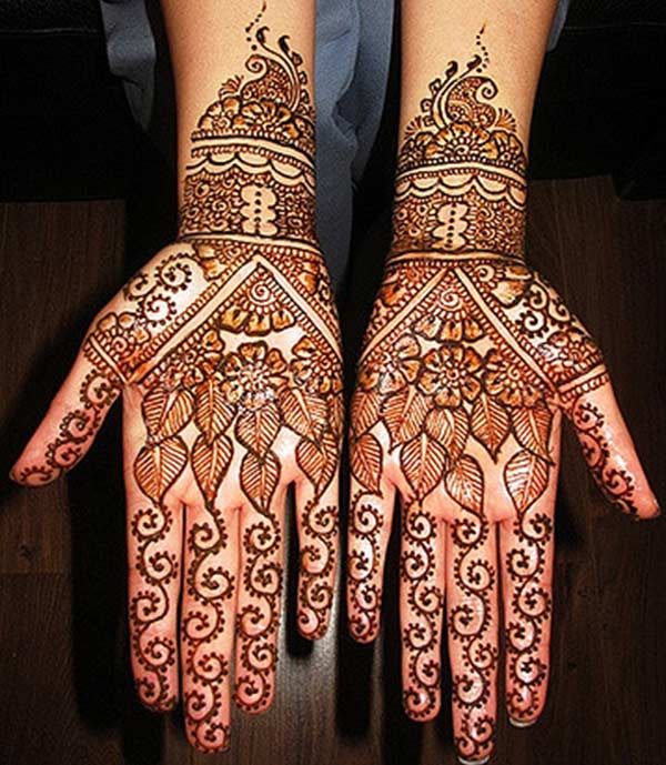 Palm Mehndi Design for Those Who Love Variety And Stylish