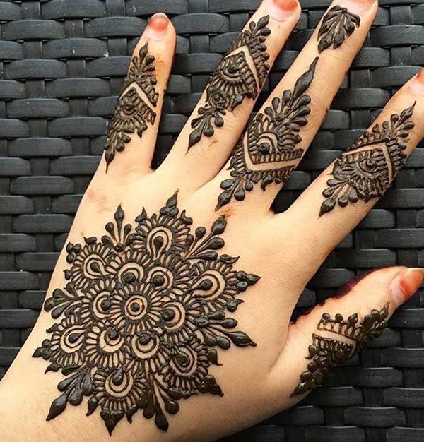 Bank hand simple mehndi design
