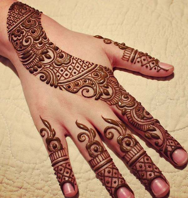 Perfect patterns mehndi design for backhand