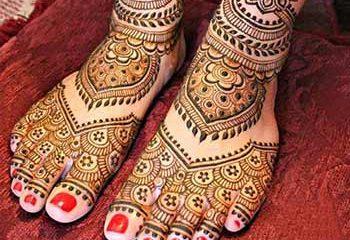 Feet mehandi designs for girls