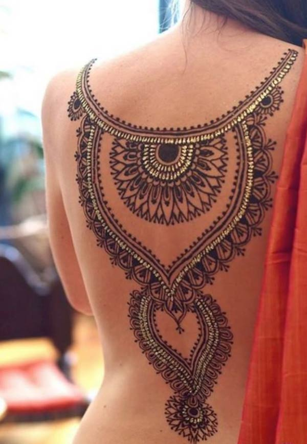 mandala mehndi design for back