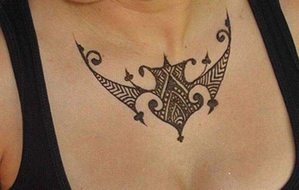 polynesian mehendi design for chest