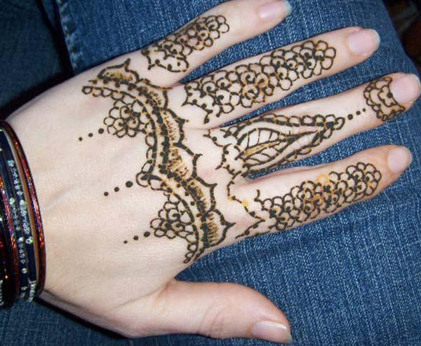 Indian mehndi design for fingers
