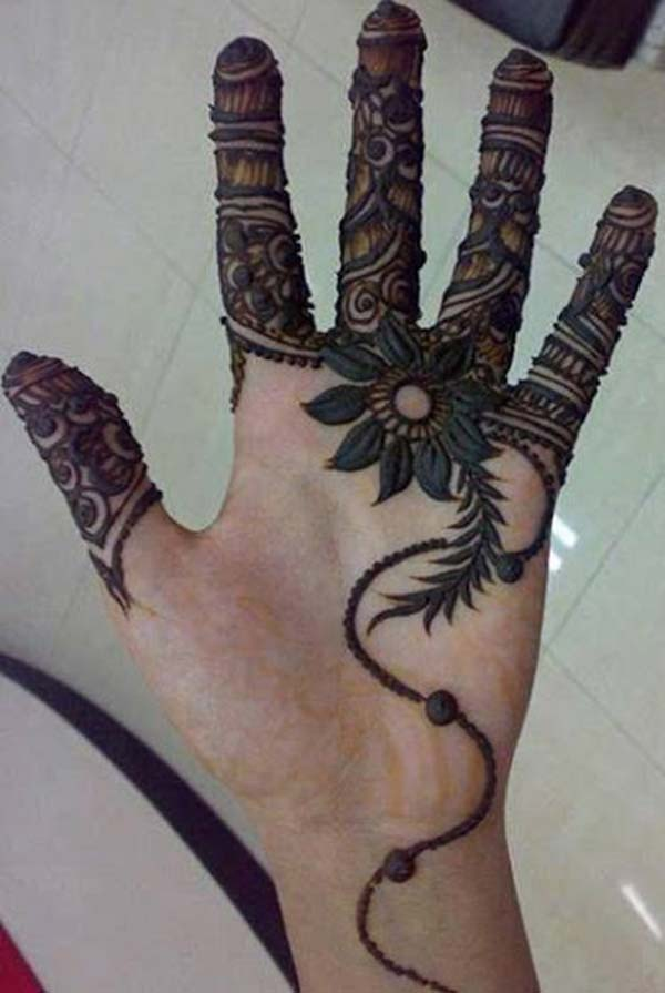 modern creative patterns mehndi design for fingers