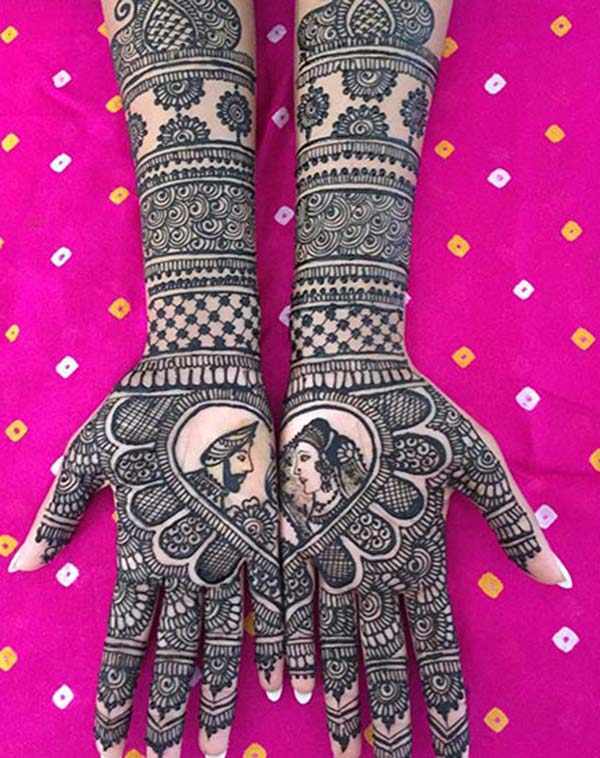 bride and groom mehndi design for bridal