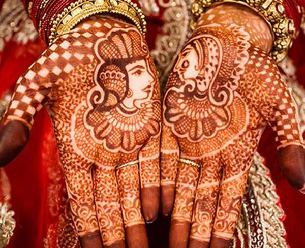 bride and grooms mehndi design for bridal