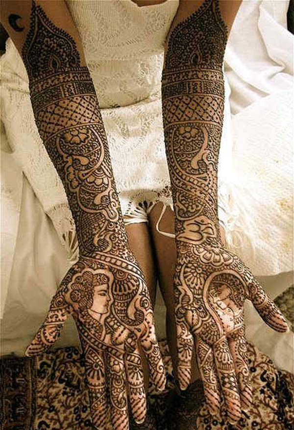 bride and groom mehendi design for bridal