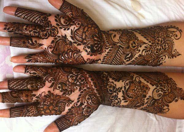 Arabic mehndi design for bride bridal