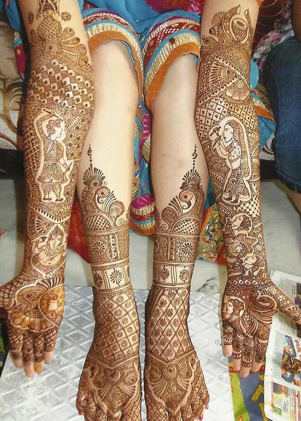 Rajasthani mehendi design for bride bridal