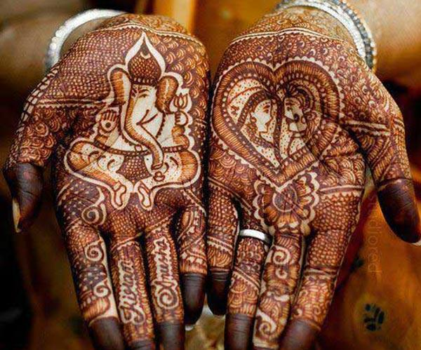 mehndi design for bride bridal