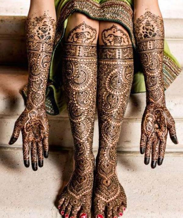 intricate patterns mehndi design for bridal