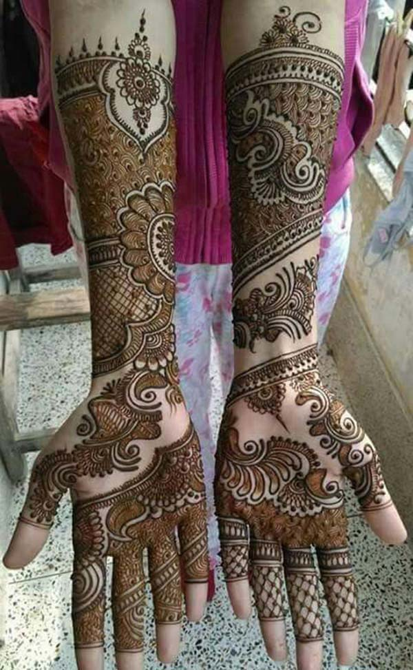 Arabic mehendi design for bridal