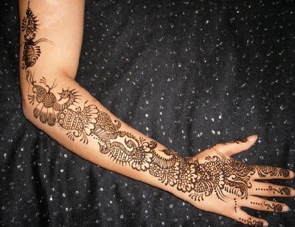 modern mehendi design for full arm