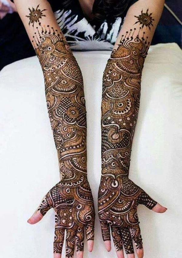 modern patterns mehndi design for full arm