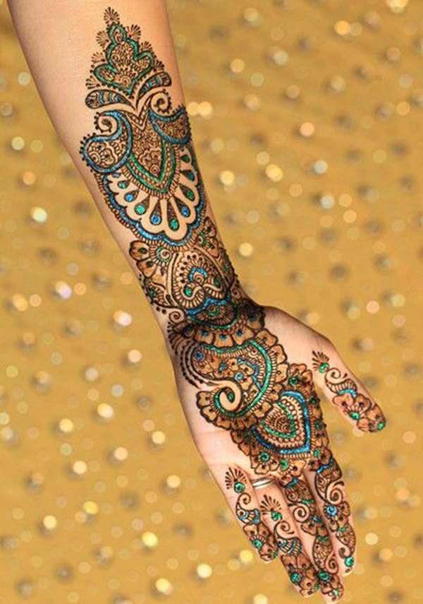 traditional mehndi design for palm palms
