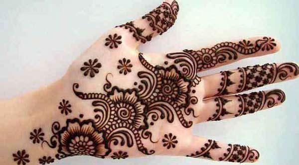 heavenly mehndi design for palm-palms