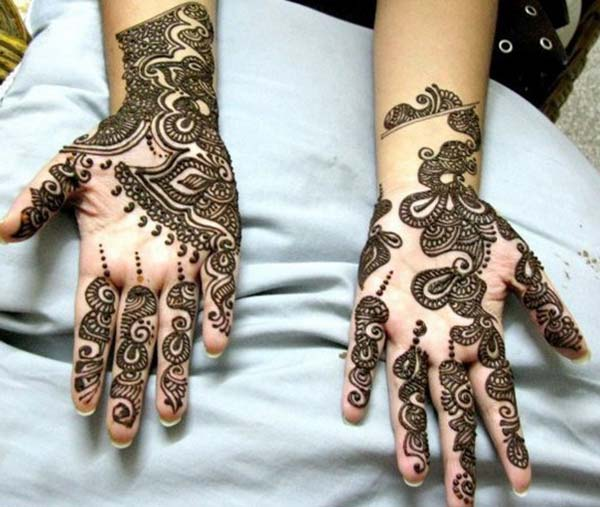 modern mehendi design for palm-palms