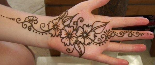 beautiful floral mehndi design for palm-palms