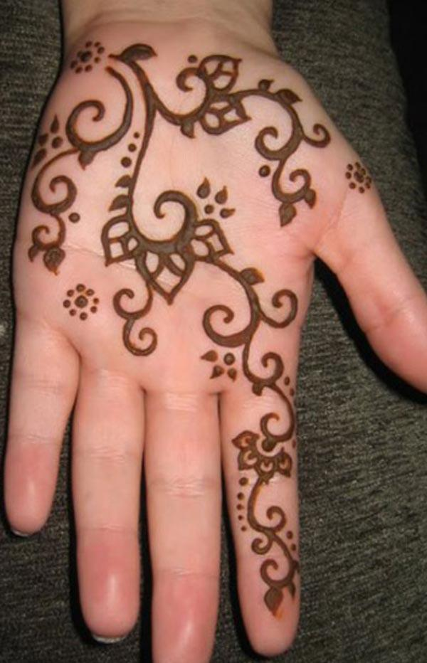 easy mehndi design for palm-palms