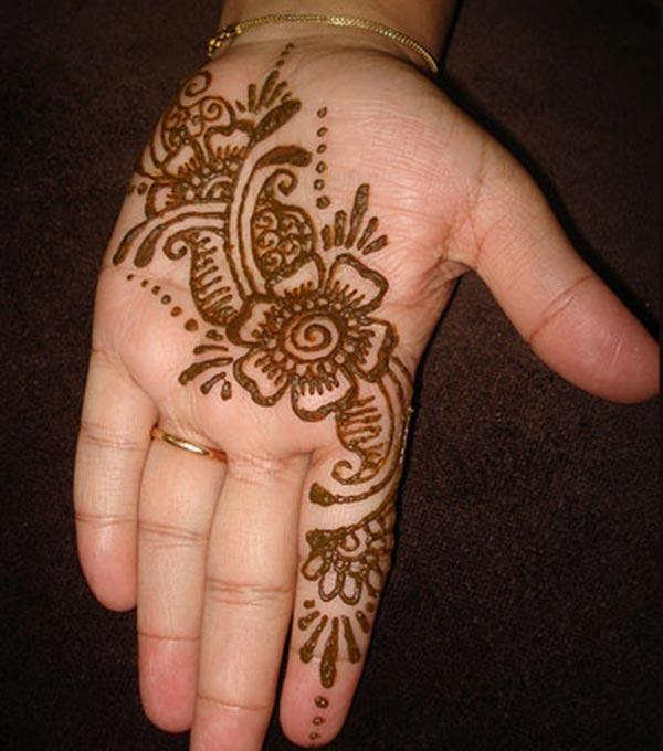 floral and paisley mehendi design for palm-palms