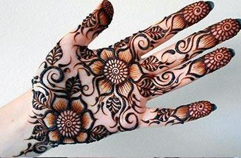 Palm mehendi designs idea for girls