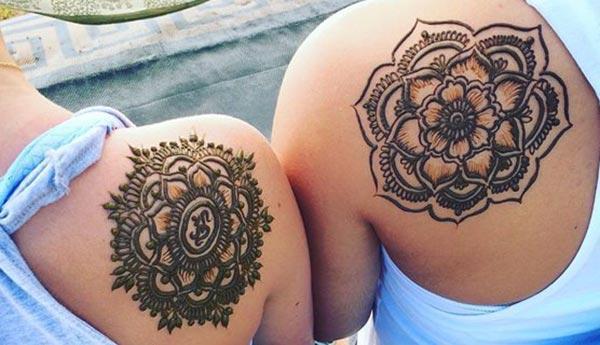 mandala pattern mehendi design for shoulder