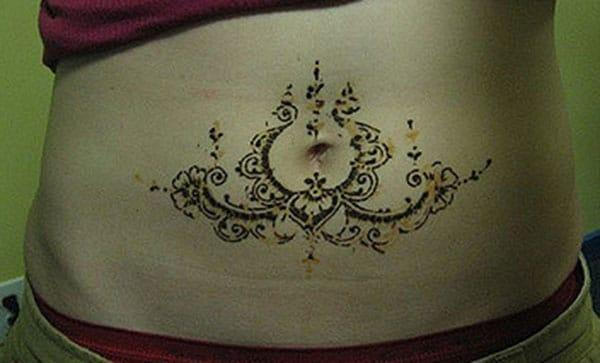 ornament mehndi design for stomachs