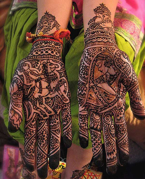 bridal Mehendi design for brides