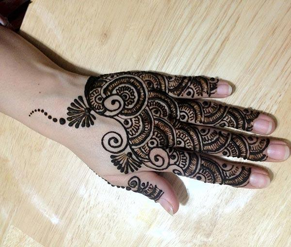 captivating intricate finger mehendi design