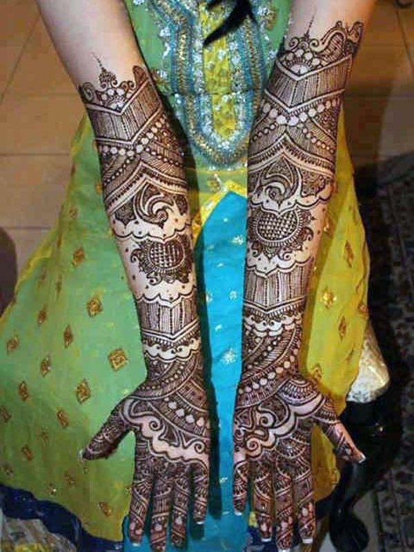 full hand mehendi design ideal