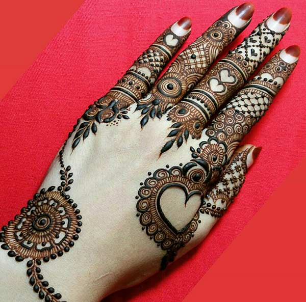 heavenly finger mehndi design that is ideal