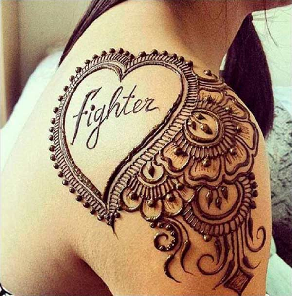 Shoulder Mehndi Design
