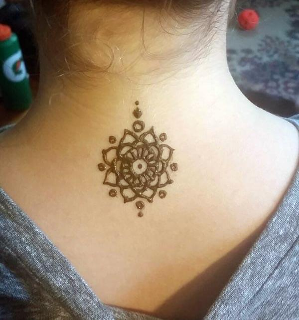 0fa6fbd75 Stylish Mehndi designs for neck idea for girls by Mehndi Design