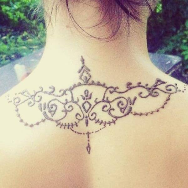 An awesome neck mehndi design for Girls and women