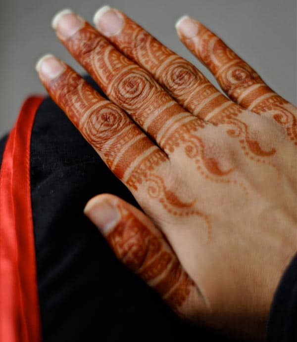 A good-looking finger mehendi design for Women and girls