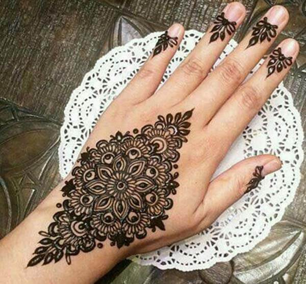 An impressive wrist mehendi design for Girls
