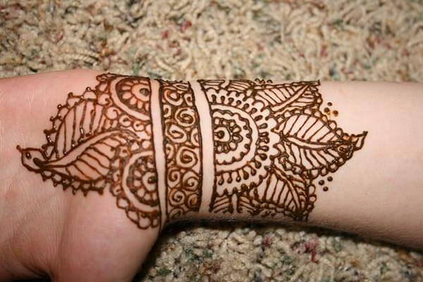 A lovely floral wrist mehendi design for Ladies and girls